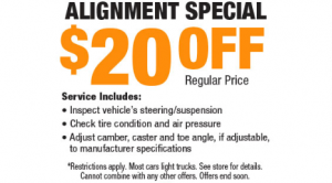 Alignment Special for $20 Off