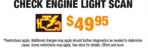Check Engine Light Scan from $49.95